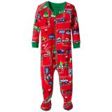 Hatley Kids Holiday Train Footed Coverall (Infant)