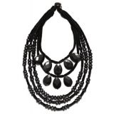 Tory Burch BEADED VELVET STATEMENT NECKLACE