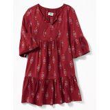Oldnavy Boho Tie-Neck Swing Dress for Girls