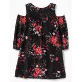 Oldnavy Cold-Shoulder Crinkle-Gauze Dress for Girls