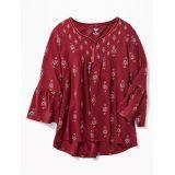 Oldnavy Ruffle-Sleeve Boho Tunic for Girls