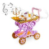 Disney Beauty and the Beast Be Our Guest Singing Tea Cart Play Set