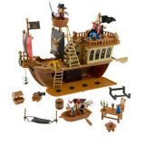 Disney Mickey Mouse Pirates of the Caribbean Pirate Ship Deluxe Play Set